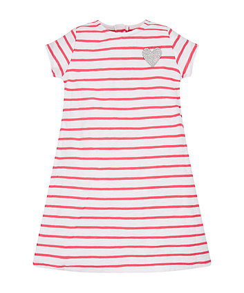Mothercare Red Stripe Tie Waist Dress
