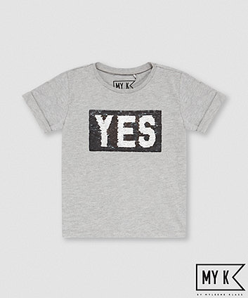 My K Yes/No Sequin T-Shirt