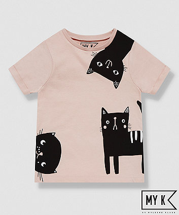 Mothercare My K Pink Cat T-Shirt