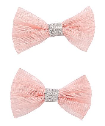 Pink Glitter Clips - 2 Pack