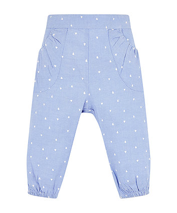 Mothercare Chambray Triangle Trousers