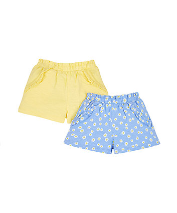 Mothercare Floral And Yellow Shorts - 2 Pack