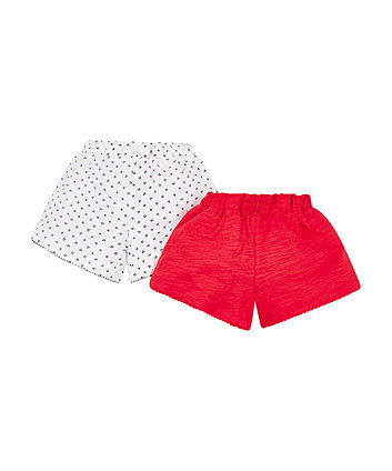 Mothercare Floral Jersey Shorts - 2 Pack