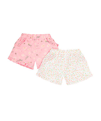 Flower Bunny Shorts - 2 Pack