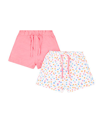 Mothercare Spotty And Pink Shorts - 2 Pack