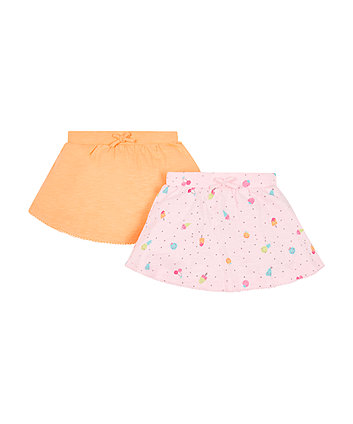 Pink And Orange Skirts - 2 Pack