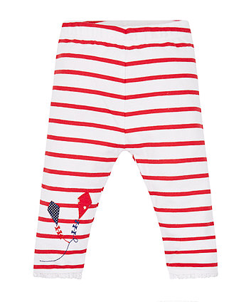Mothercare Red Stripe Kite Leggings