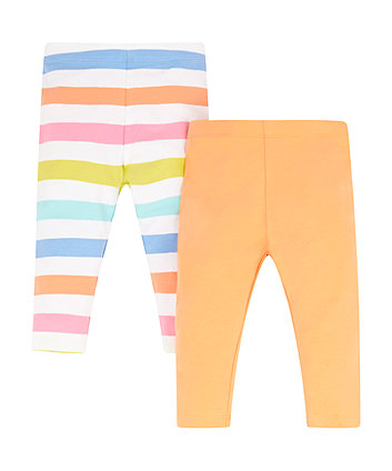 Mothercare Colourful Stripe Leggings - 2 Pack