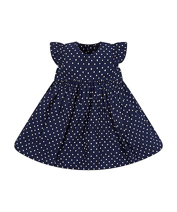 Mothercare Navy Ditsy Dress