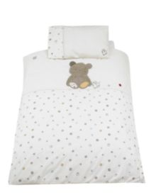 Mothercare Precious Bear Cot-Cotbed Duvet and Pillowcase Set