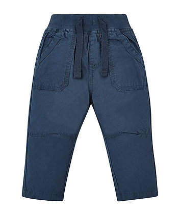 Mothercare Navy Poplin Trousers