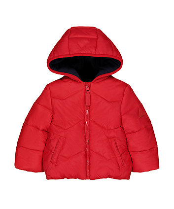 Mothercare Red Padded Fleece-Lined Jacket