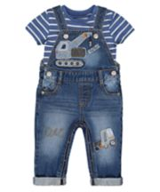 Mothercare Truck Dungarees And T-Shirt Set