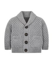 Mothercare Grey Twist Knit Cardigan