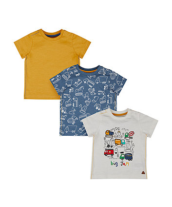 Big Jam Vehicle T-Shirts - 3 Pack