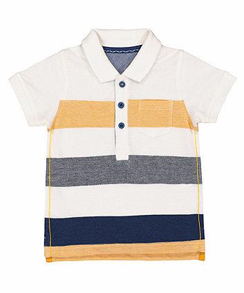 Mothercare Multi-Striped Polo Shirt