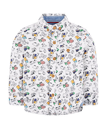 Mothercare White Truck Shirt