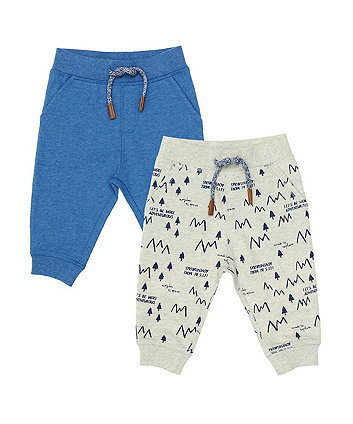 Mothercare Blue Big Cat Joggers - 2 Pack