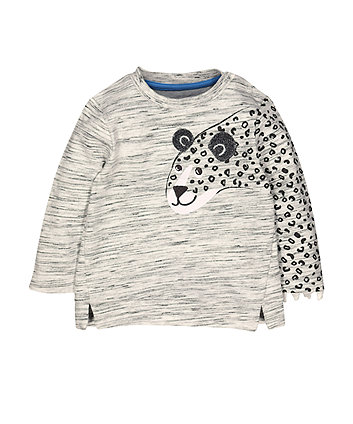Mothercare Grey Leopard Sweat Top