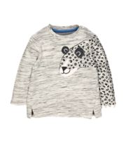Grey Leopard Sweat Top