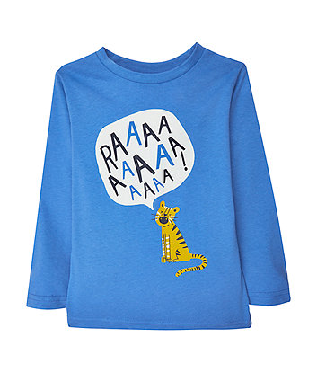 Blue Raaa Tiger T-Shirt