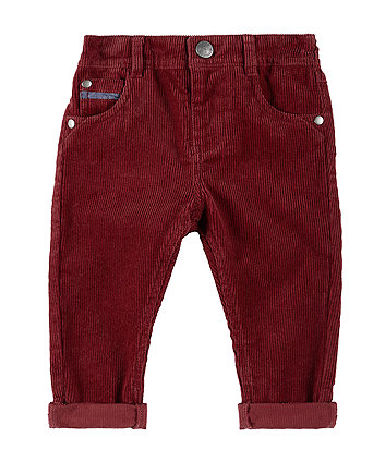 Mothercare Burgundy Cord Trousers
