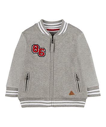 Mothercare Grey Zp-Through Sweat Jacket