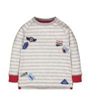 Grey Stripe Racing Badge T-Shirt