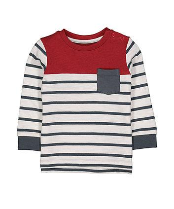 Mothercare Burgundy Stripe T-Shirt