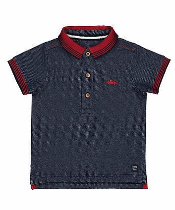 Mothercare Dark Blue Pique Polo Shirt