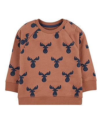 Mothercare Rust Moose Sweat Top