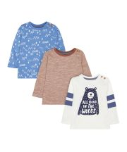 Bear And Woodland T-Shirts - 3 Pack