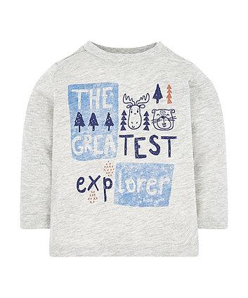 Mothercare Grey Explorer T-Shirt