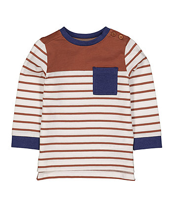 Mothercare Rust Striped T-Shirt