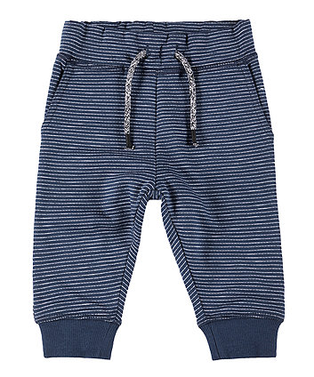 Mothercare Navy and White Stripe Joggers