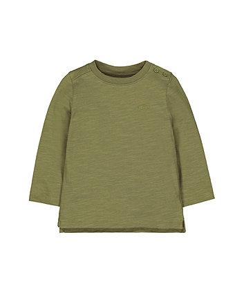Mothercare Khaki Car T-Shirt