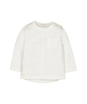 Mothercare White Pocket T-Shirt