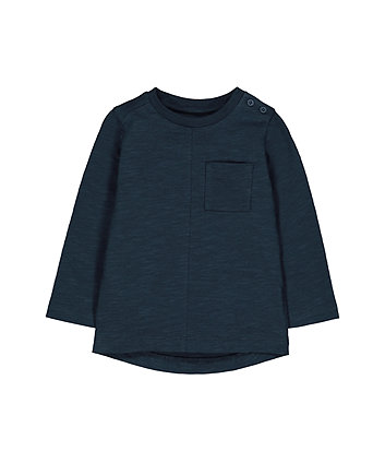 Mothercare Navy Pocket T-Shirt