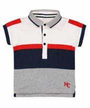 Mothercare White Colour Block Polo Shirt