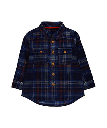 Blue Check Cord Shirt