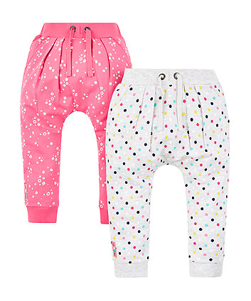 Mothercare Pink And Grey Joggers - 2 Pack