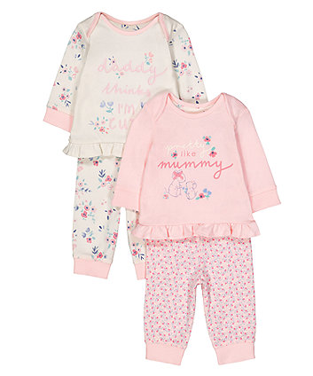 Mummy And Daddy Floral Pyjamas - 2 Pack