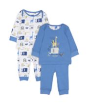 Blue Into The Wild Pyjamas - 2 Pack
