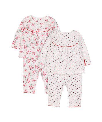 Mothercare Flower Pyjamas - 2 Pack