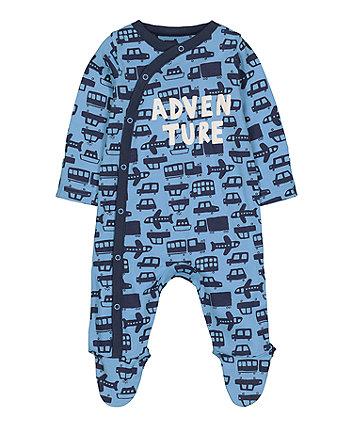 Blue Adventure Transport Sleepsuit