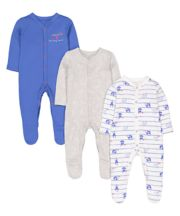 Mothercare Monkey Sleepsuits - 3 Pack
