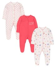 Tea Party Sleepsuits - 3 Pack