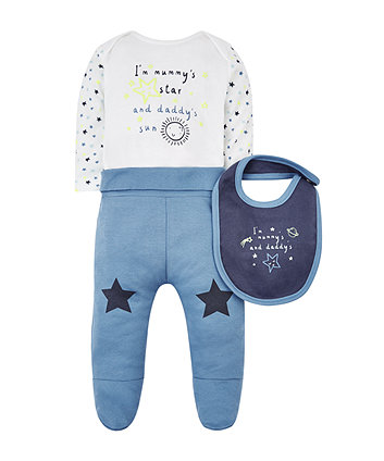 Mothercare Mummy And Daddy Space 3-Piece Set