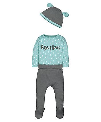 Pawsome Dog Three Piece Set