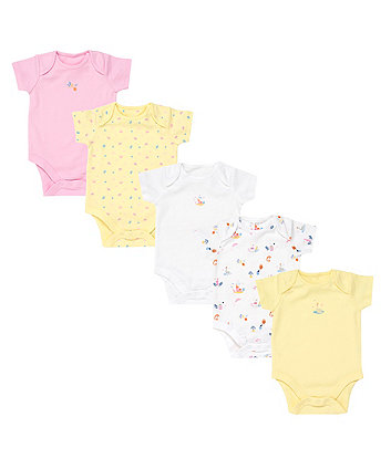 Swan Princess Bodysuits - 5 Pack